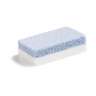 White-blue pumice stone manicure and pedicure
