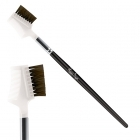 Brush with comb/ eyelash and eyebrow brush - Nylon