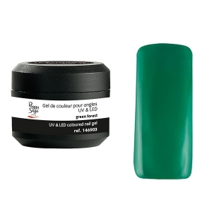 Coloured UV nail gel green forest 5g