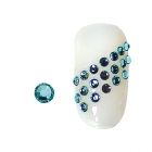 20 rhinestones for nails aquamarine SS5
