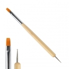 2-in-1 flat brush / marbling tool