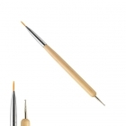 2-in-1 nail art brush / marbling tool