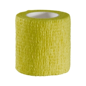 Self adhesive strip yellow