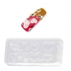 Nail art flexible mould for 3D decorations