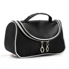 Black cosmetics bag with mirror