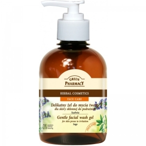 Green Pharmacy - Gentle facial wash gel for skin prone to irritation Sage 270ml