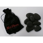 Hot stones in velvet bag
