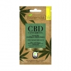 Bielenda CBD Cannabidiol Moisturizing and detoxifying mask with CBD from hemp seed combination / oily skin 8g