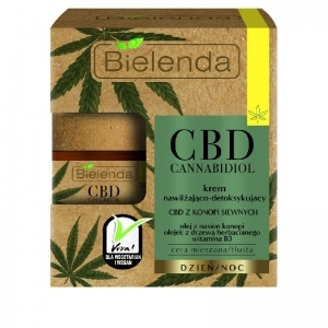 Bielenda CBD Cannabidiol Moisturizing and detoxifying cream with CBD from hemp seed mixed / oily skin 50ml