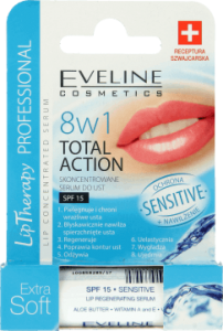 Eveline 8in1 Extra Soft sensitive SPF 15 Lip balm